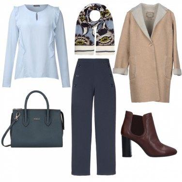 Outfit Blu & Beige