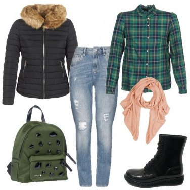 Outfit A scuola con gli anfibi