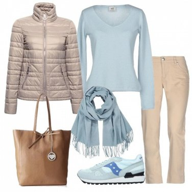 Outfit Piumino e Saucony