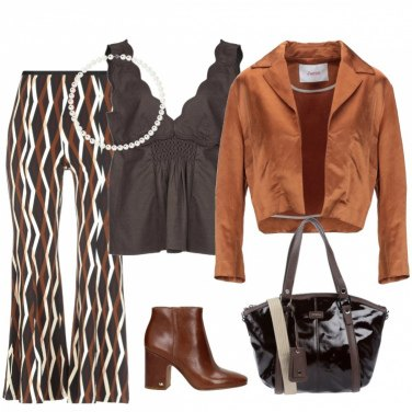 Outfit Marrone glam