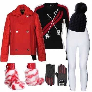 Outfit Glam anche sulla neve