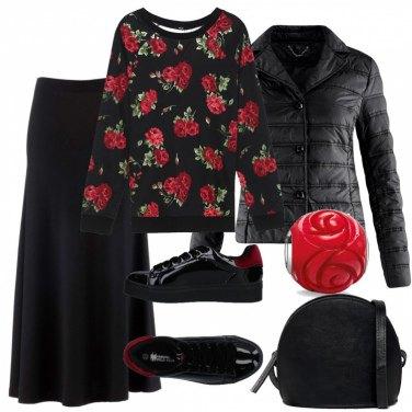 Outfit Dettagli rossi come le rose