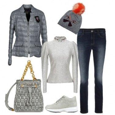 Outfit Griffata in grigio