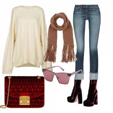 Outfit Borsa trapuntata in velluto