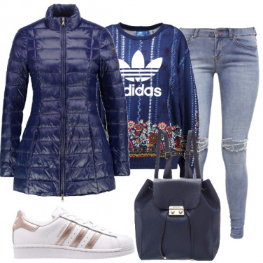 Outfit Glamour e sportivo