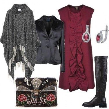 Outfit Sovrapposizione di stili e tessuti