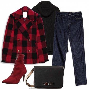 Outfit Tartan e jeans
