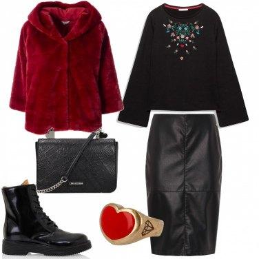 Outfit Anello con cuore rosso