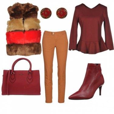 Outfit Passione bordeaux