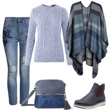 Outfit Azzurri polverosi