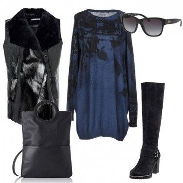 Outfit Blu notte e nero