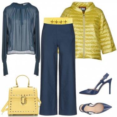 Outfit Blu e giallo