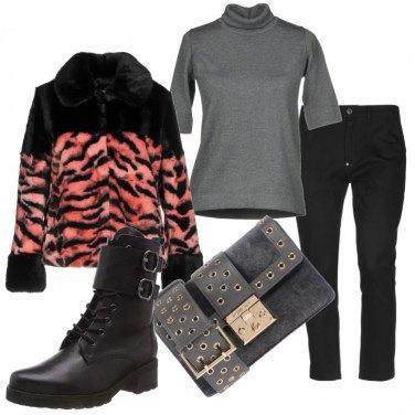 Outfit Anfibi pelliccia & saldi