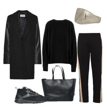 Outfit Sporty-chic total black