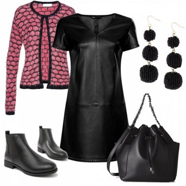 Outfit Abito in pelle