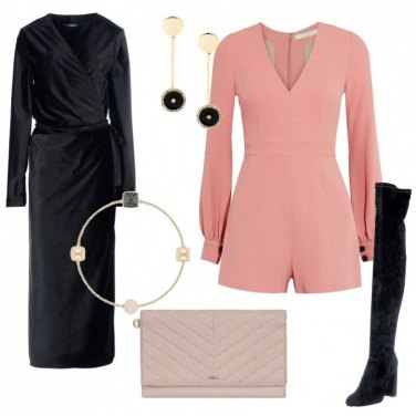 Outfit Playsuit e soprabito in velluto