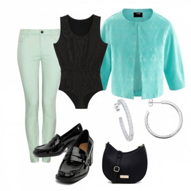 Outfit Verde mare