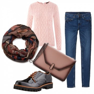 Outfit Maglione rosa
