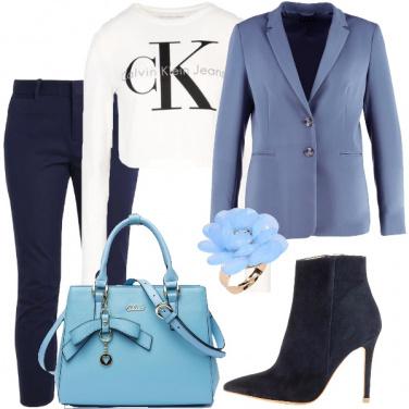 Outfit Buona giornata in azzurro