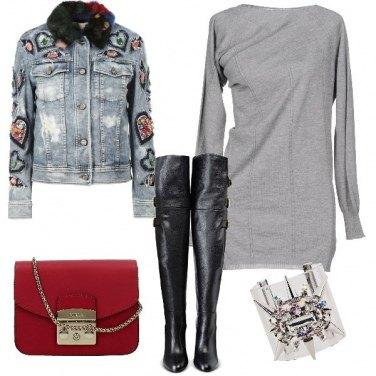 Outfit Vestito corto e bracciale cuff