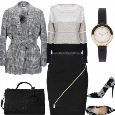 Outfit Accordi bianco, nero, grigio