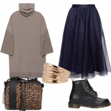 Outfit Maglione e gonna tulle