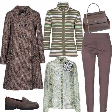 Outfit Trend dritto e testa di moro