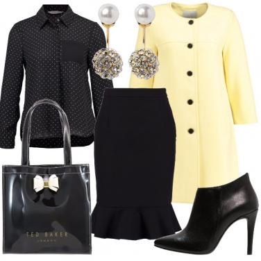 Outfit Il cappottino giallo