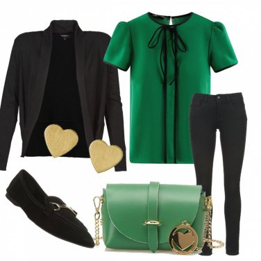 Outfit Verde, cuore....amore