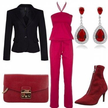 Outfit Look per cena rosso fuoco