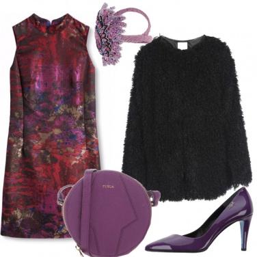 Outfit Viola da sera