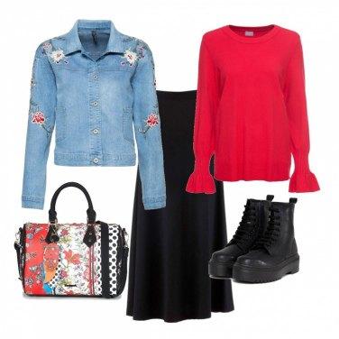 Outfit Gonna lunga & anfibi