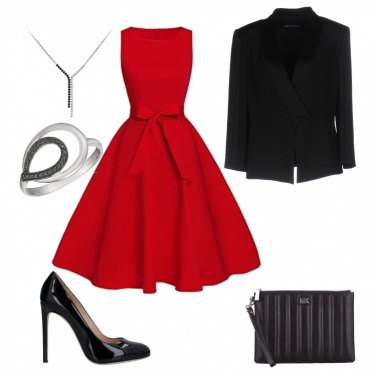 Outfit Red party