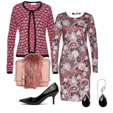 Outfit Rosa e nero in inverno