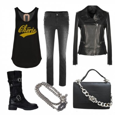 Outfit Rock in the city