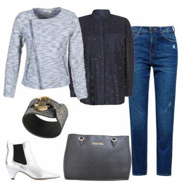 Outfit Jeans quasi elegante