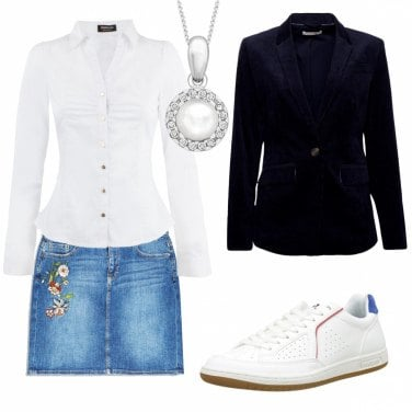 Outfit Trendy in jeans