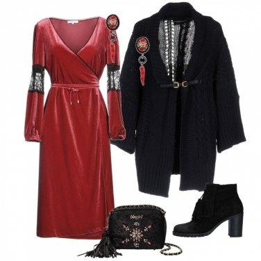 Outfit Velluto rosso