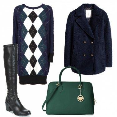 Outfit Blu e verde