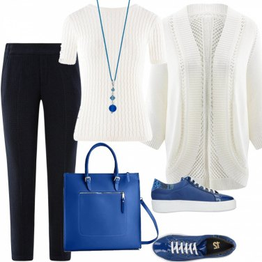 X Borsa 8653 blue Mano Chicca w Blu Donna Borse Cm 35x36x12 A 07Eq5x5Pw