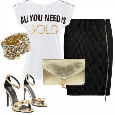 Outfit Mi vesto d\'oro con meno di 70 euro