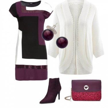 Outfit Geometrie con paillettes