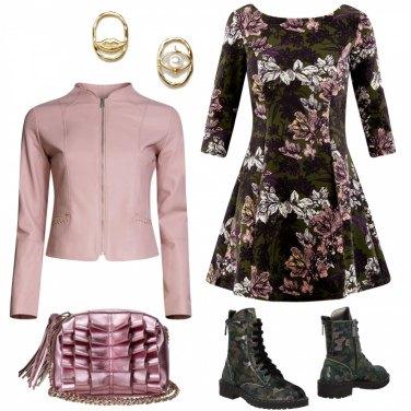 Outfit Camoufflage e fiori