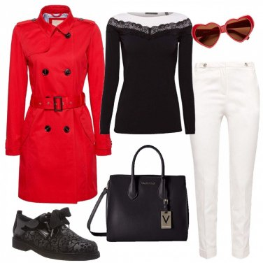 Outfit Il trench rosso