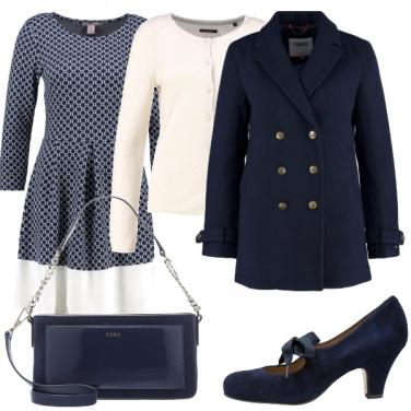 Outfit Bon ton in blu