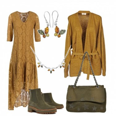 Outfit Pizzo ambra