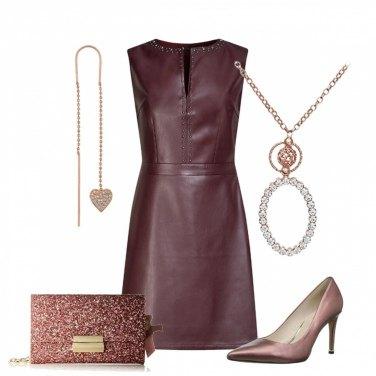 Outfit Elegante con tubino in pelle