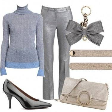 Outfit Silver and gold