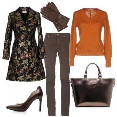 Outfit Il cappottino damascato