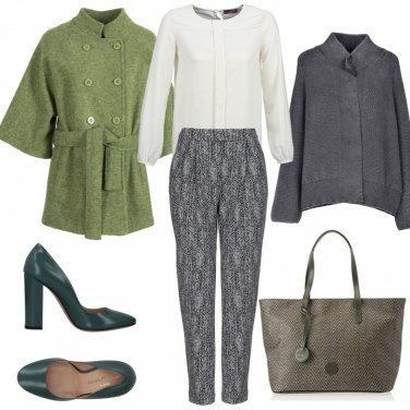 Outfit Green and grey